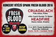 Koncert Vítězů Spark Fresh Blood 2016 v Českých Budějovicích